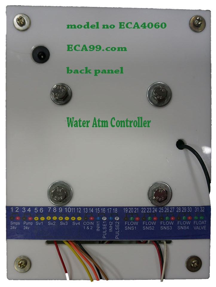 water ATM controller model no ECA4060 back view