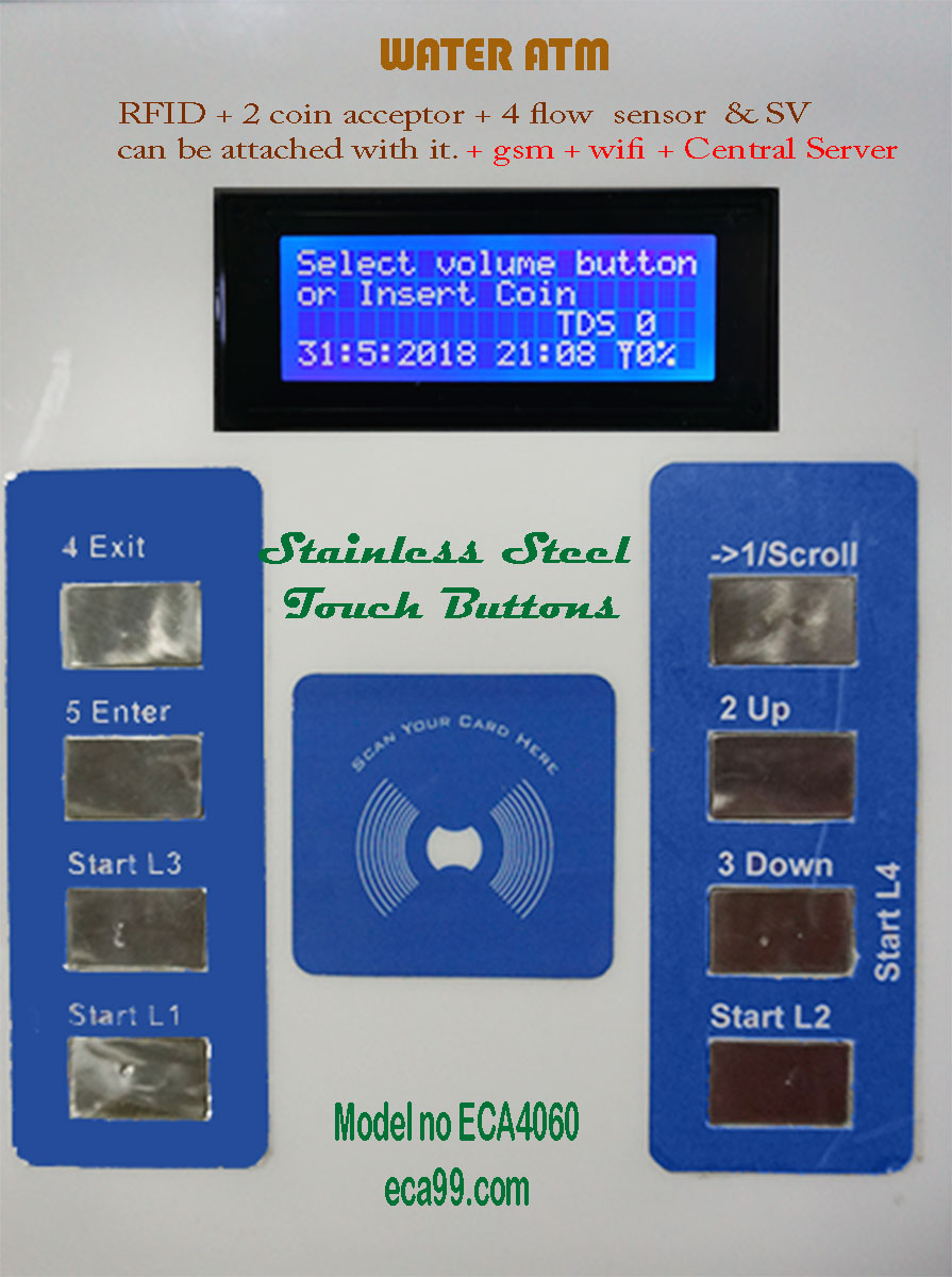 water ATM controller model no ECA4060 front view with text